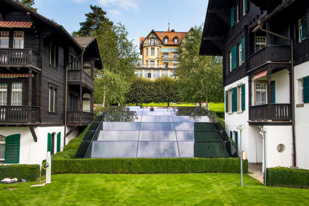 Folienverbund Schweiz Sonnenschutzfolie Zurichversicherung Glaskuppel