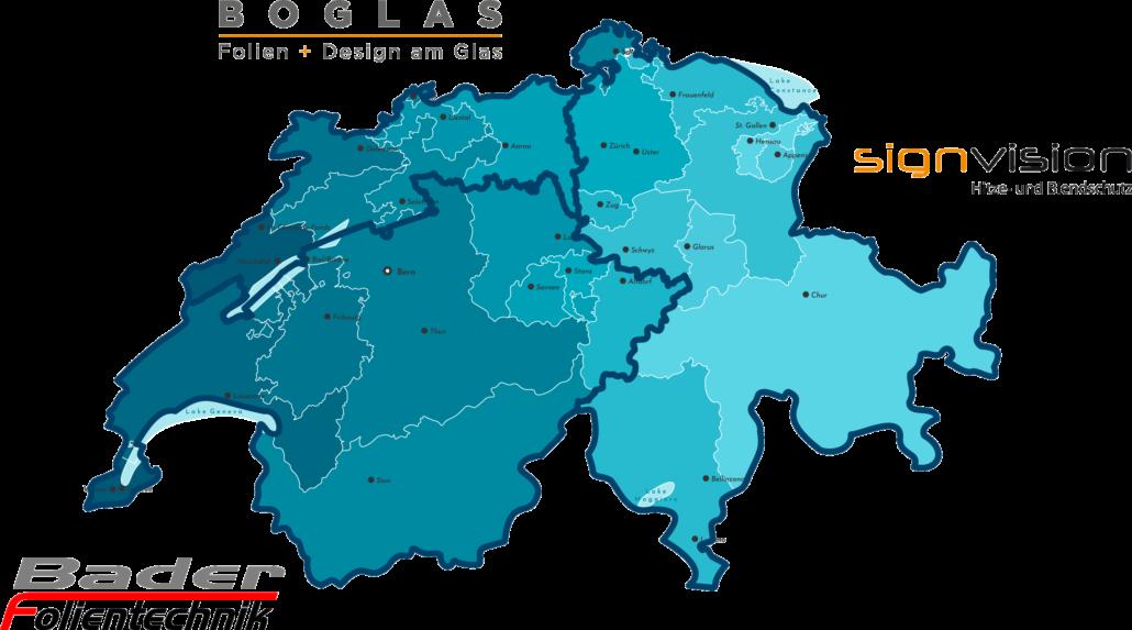 Folienverbund Schweiz Gebiete